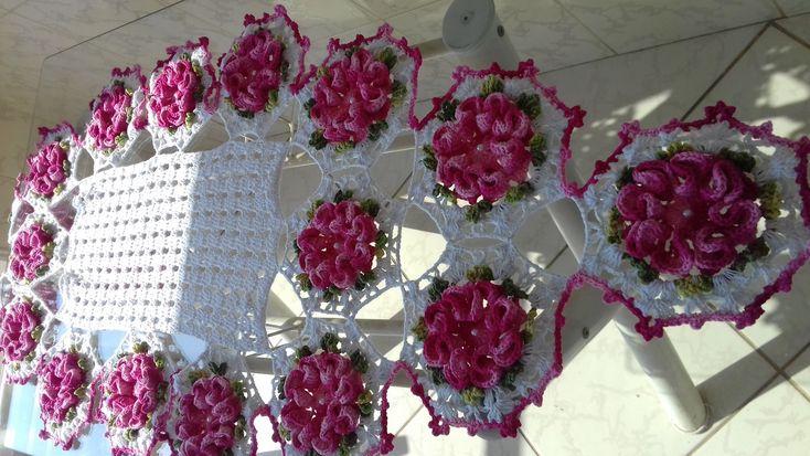 Caminho de Mesa em Crochê por Cristina Coelho Alves - Parte 01