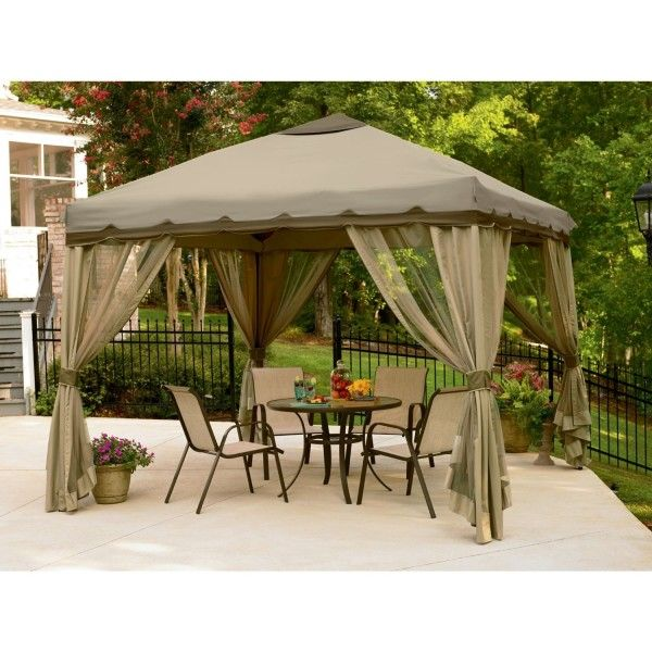 10 x 10 Essential Garden Oasis Pop Up Gazebo Tent Outdoor Portable Patio Canopy  sc 1 st  Pinterest & 14 best 13 Beautiful Gazebo Canopy Designs for your Home images on ...