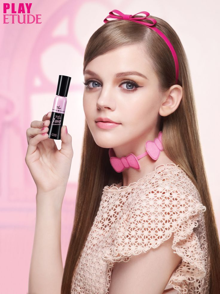 Dakota Rose for Etude House http://www.etude.co.kr/dolldollcara/index.jsp#event3