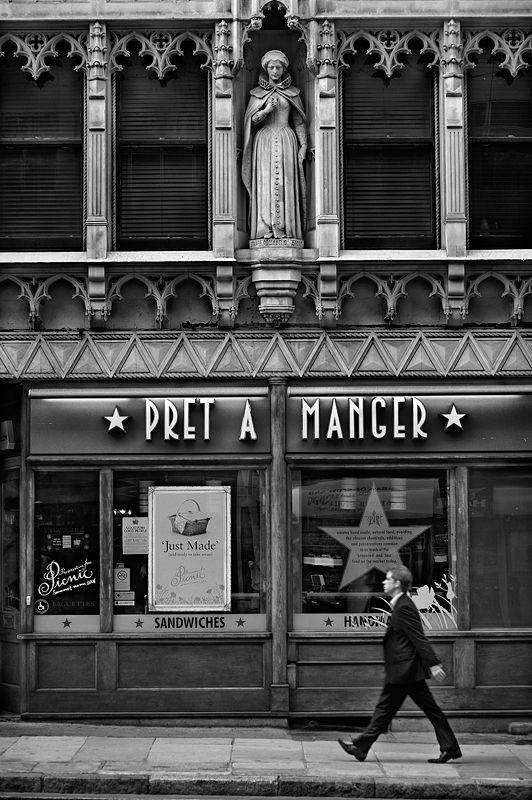 Pret a Manger London Black and White Photo309