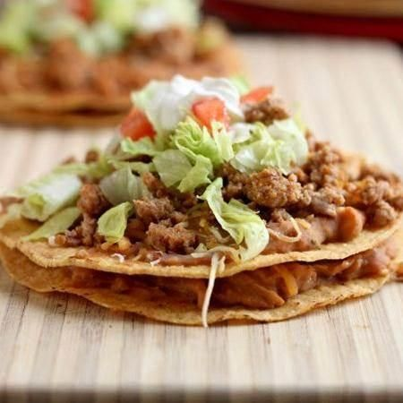 Double Decker Chipotle Bean & Turkey Tostadas | Recipe