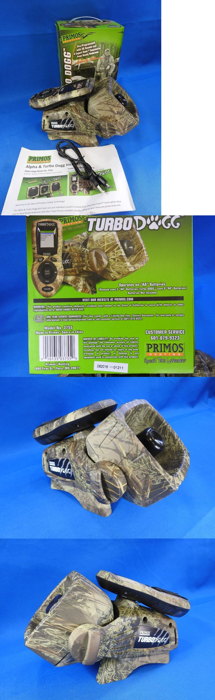 Game Calls 36252: Primos Turbo Dogg Electronic Predator Game Call System W/ Remote - 3755 BUY IT NOW ONLY: $165.0