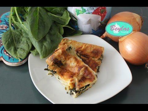 Einfacher Börek mit Spinat-Käse-Füllung aus fertigem Yufka-Teig - YouTube