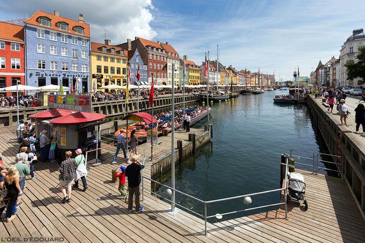 L'Oeil d'Édouard © Nyhavn Copenhague Danemark Scandinavie - canal, bateaux et façades colorées - Copenhagen Denmark Scandinavia Kobenhavn Dansk