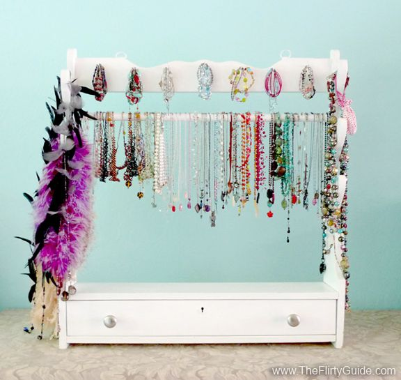 Upcycled Gun Rack Jewlery Storage. I bought this rifle rack for $3 at ...