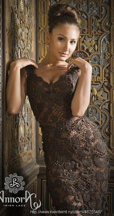 Irish crochet &: IRISH LACE DRESS ... ПЛАТЬЕ ИРЛАНДИЯ