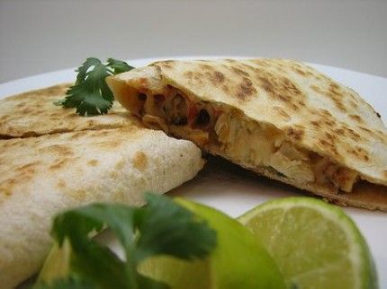 Weight Watchers Chicken Quesadillas recipe – 6 points (With Whole Wheat Tortillas)...I would probably put ground chicken in this, but only because I don't like cutting/cooking chicken breasts.
