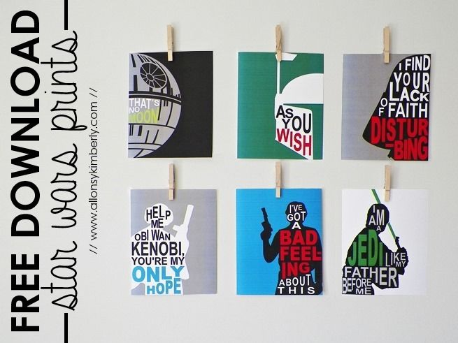 Free Download: Star Wars Prints -- Love these! P.Pierson