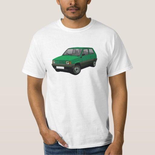 Fiat Panda 45 Mk1 (Tipo 141) Green  #fiat #fiatpanda #tshirt #italia #italy #panda #thirts #80s #green