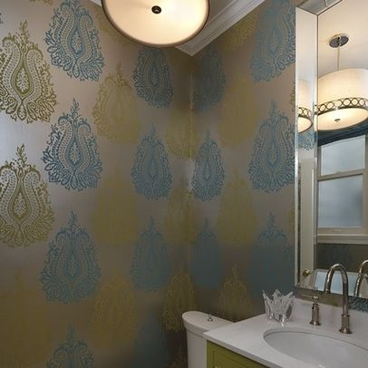 Metallic Wallpaper Design, Pictures, Remodel, Decor and Ideas - page 2