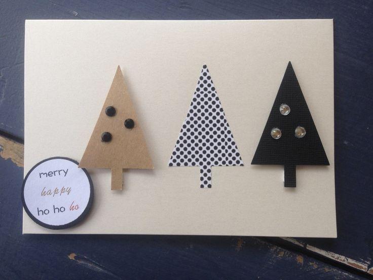 Christmas Trees Handmade Card