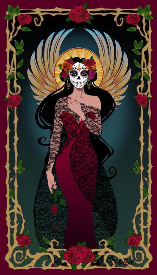 La Rosa Digital Art  - La Rosa Fine Art Print