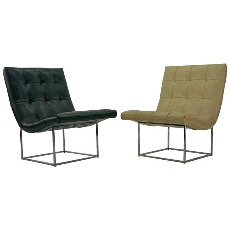 Pair Milo Baughman lounge chairs | From a unique collection of antique and modern lounge chairs at https://www.1stdibs.com/furniture/seating/lounge-chairs/