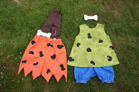 Flinstone Costume Bam Bam & Pebbles by MyPurplePrincessShop, $65.00