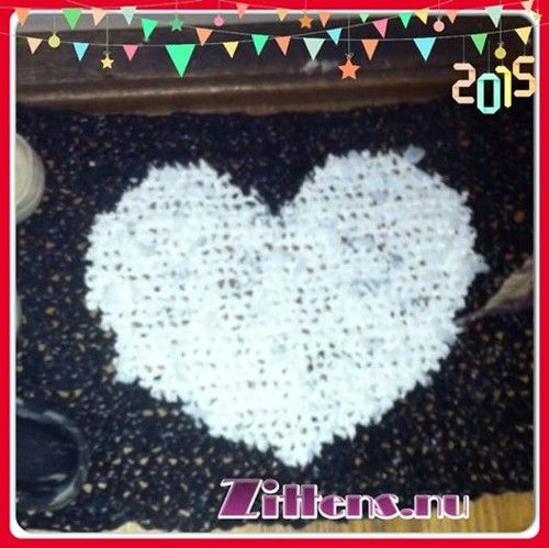 ♥ Zittens ♥ Crochet Carpet done with garbagebags cut into slices