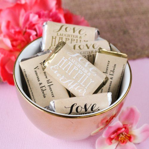 Personalized Wedding Hershey's Miniatures Candy favors for Engagement party, bridal shower, bachelorette, rehearsal dinner, wedding (($))