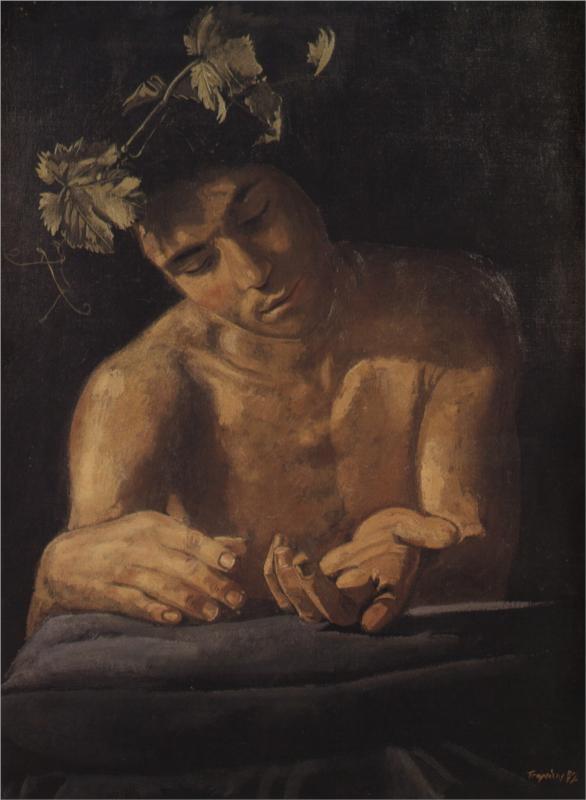 Dionysus, drunk, 1972  Yiannis Tsaroychis
