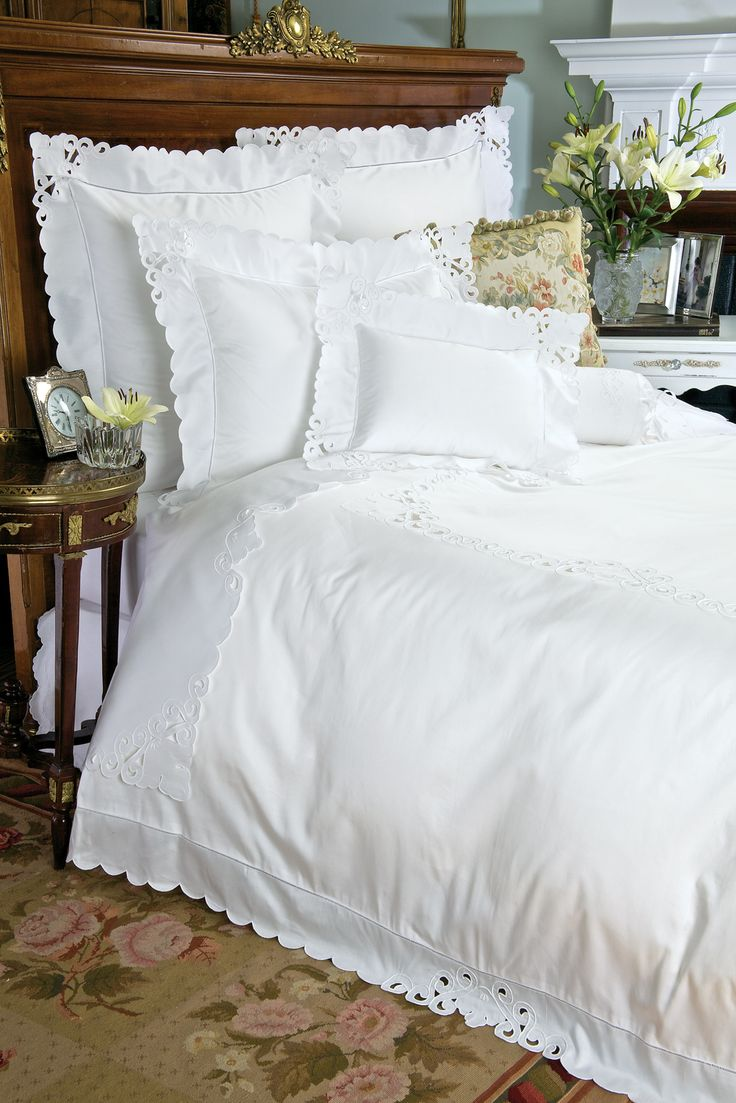 Like one-of-a-kind trousseau linens from your great grandmother's day, this exquisite import will be treasured for its lovingly...