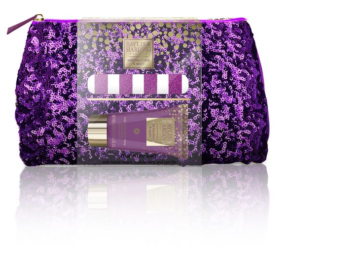 Wild Blackberry & Apple Glittering Manicure Clutch Bag Set #stockingfiller #Christmas #affordableluxury #gifts