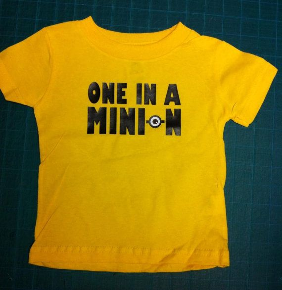 Hey, I found this really awesome Etsy listing at https://www.etsy.com/uk/listing/222588360/one-in-a-minion-shirt