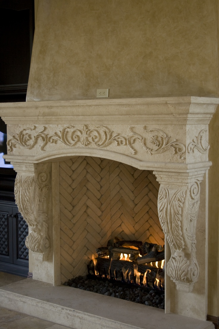 Exhaustive carved travertine