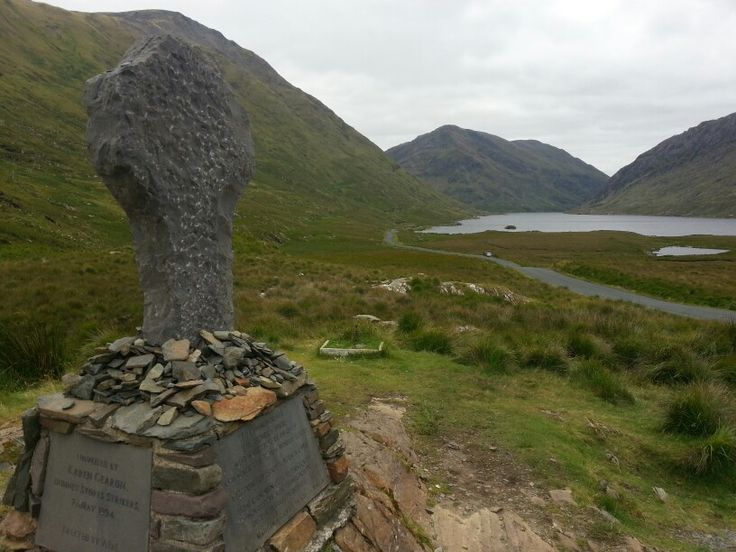 Doolough tragedy memorial. Memorial to those who died here in 1849 during the Great Hunger.