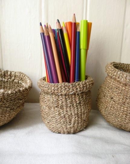 handwoven water hyacinth basket