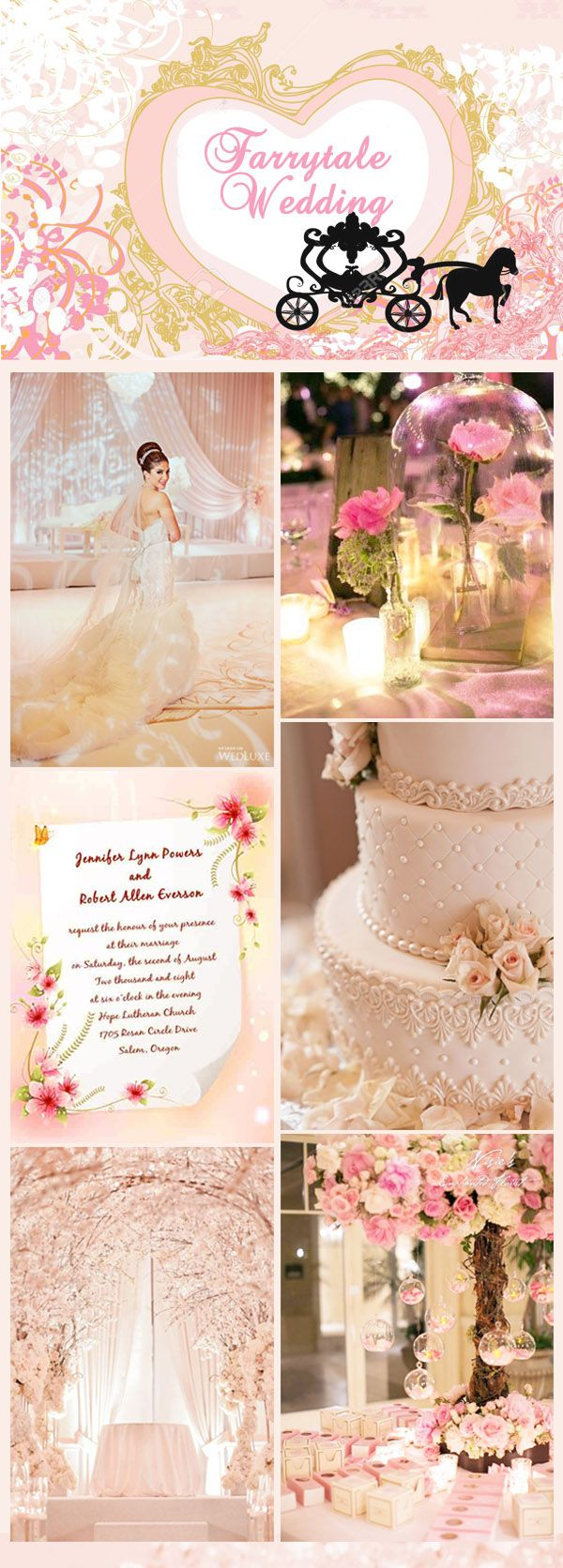 romantic mordern fairytale wedding ideas and invitations