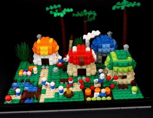 Lego Mocs Micro ~ Smurf's Village: A LEGO® creation by Toutouille Seb