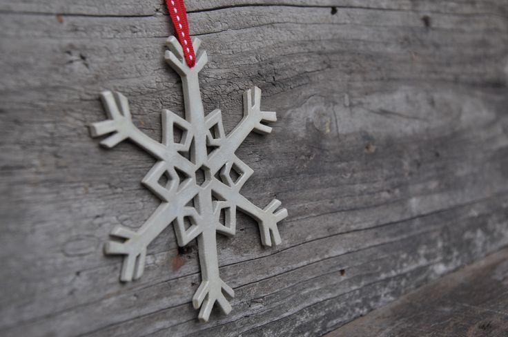 In Christmas mood!  Ceramic snowflakes!