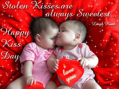 Romantic Kiss Day wishes for Lovers