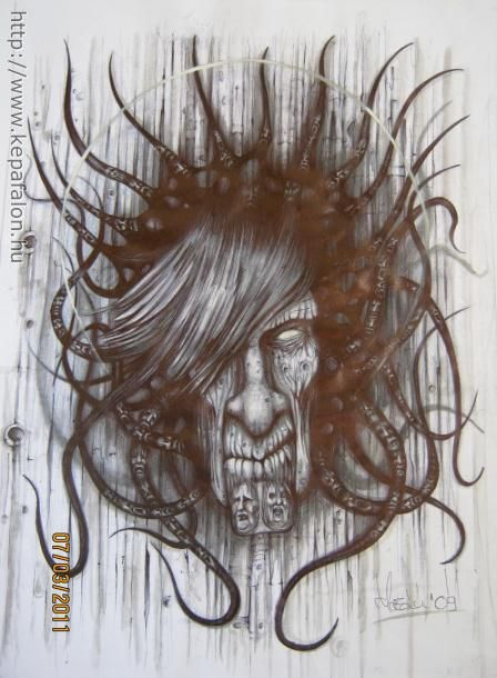 Mazán Mihály - A bukott című festménye