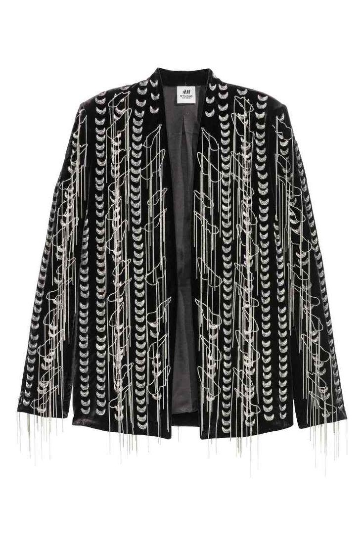 Бархатный пиджак с цепочками | H&M