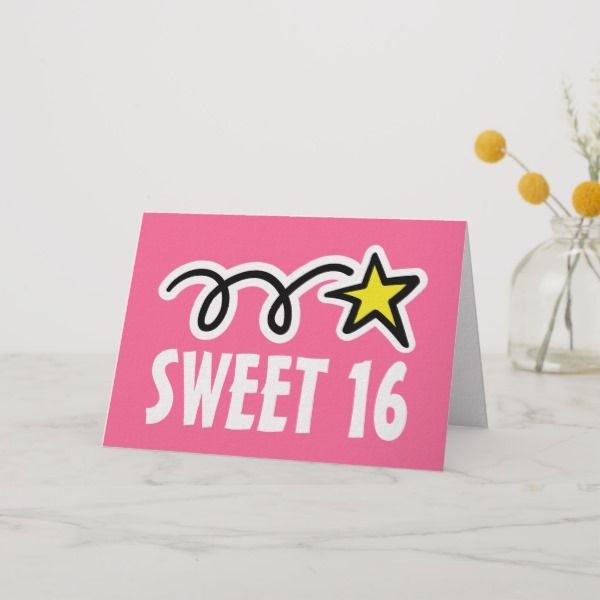 New Birthday Card For 16 Year Old Vintage Greeting Cards