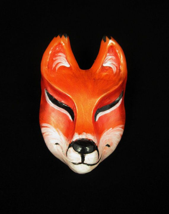 ... mask on Pinterest Alibaba group, Hand painted and Kitsune mask