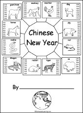 Bunches and bunches of Chinese New Year Printables on Enchanted Learning - - Re-pinned by @PediaStaff – Please Visit http://ht.ly/63sNt for all our pediatric therapy pins