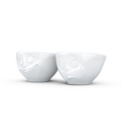 Tassen Dip Set, 2-pieces, Small Bowls - Happy & Oh Please, White - Kitchenique