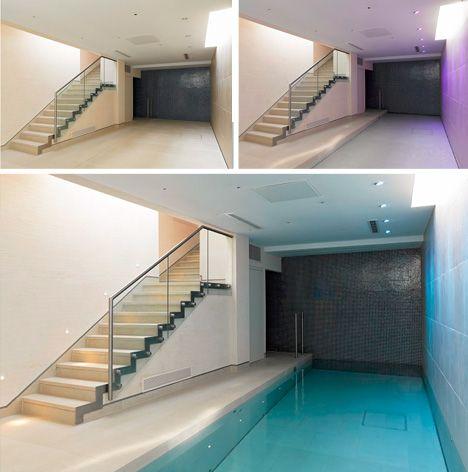 verborgen zwembad op aanvraag