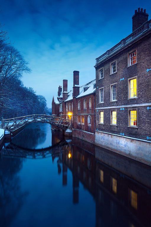 Mathematical Bridge, Queen's College, Cambridge University, UK