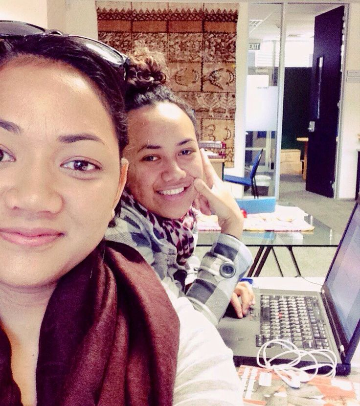 Pacific centre with the island babes prepping for finals #tongan #samoan #fijian
