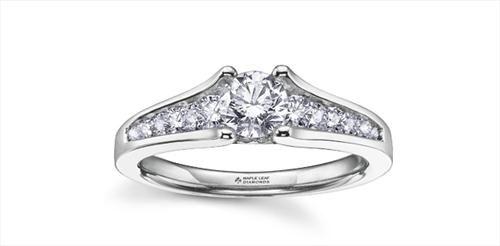 Maple Leaf Diamonds Ladies Engagement Ring