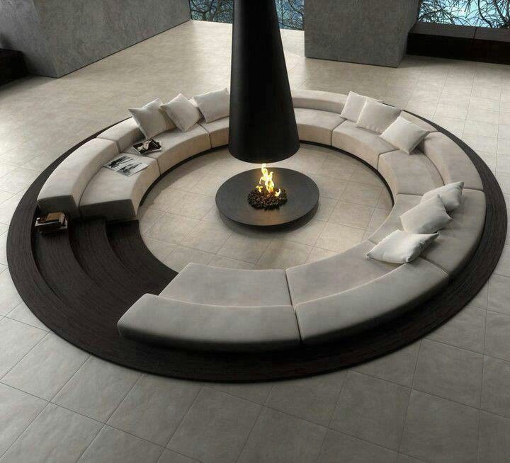 Sectional surrounding fire pit