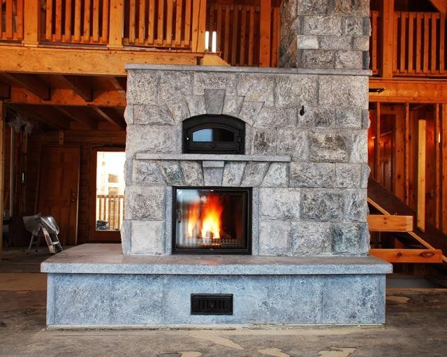 Fresh Wood Stove In Basement to Heat whole House