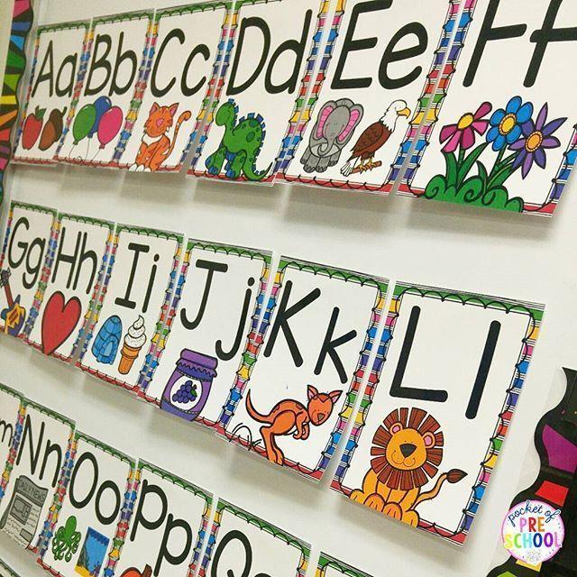 Classroom Alphabet Decor ~ Bästa alphabet posters idéerna på pinterest