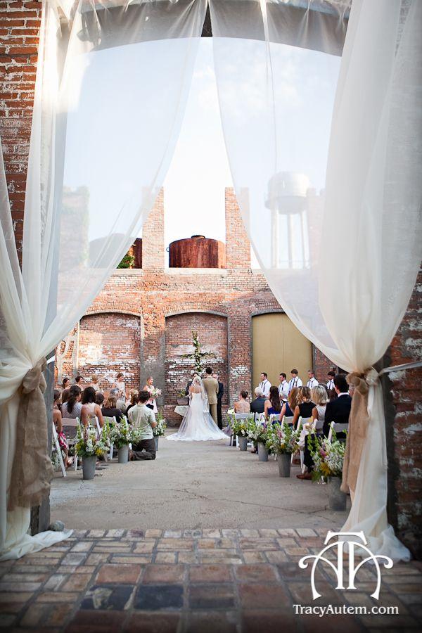McKinney Cotton Mill Wedding vintage chic shabby