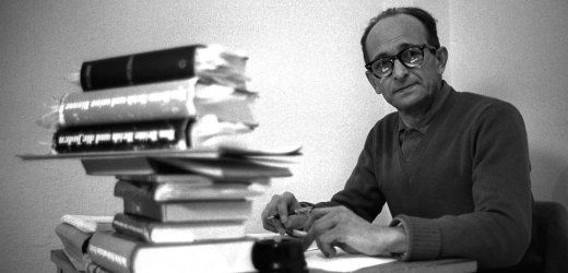 """Adolph Eichmann in his cell in Galami Prison in Israel as he awaits his trial.  Before his arrest by Israel's Mossad intelligence service, Adolf Eichmann boasted openly to other foreigners in Argentina of the war crimes he had committed. He confided in one journalist that his only mistake was not having murdered all the Jews. """"We didn't do our work correctly,"""" he said."""