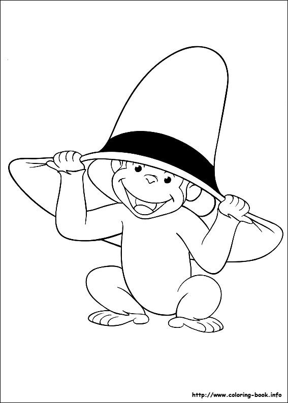 free printable Curious George color page