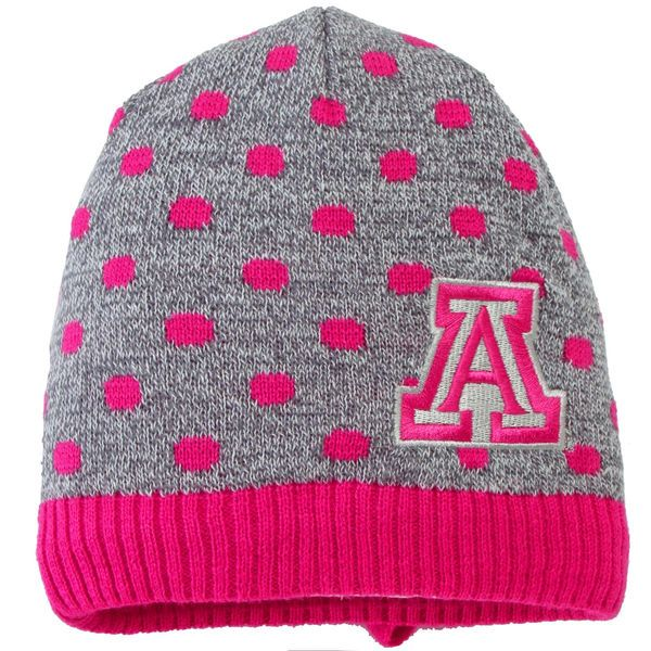 Top of the World Arizona Wildcats Girls Infant Gray/Pink Zulu Knit Hat, $19.95 http://shareasale.com/m-pr.cfm?merchantid=45646&userid=646297&productid=586380744&afftrack=