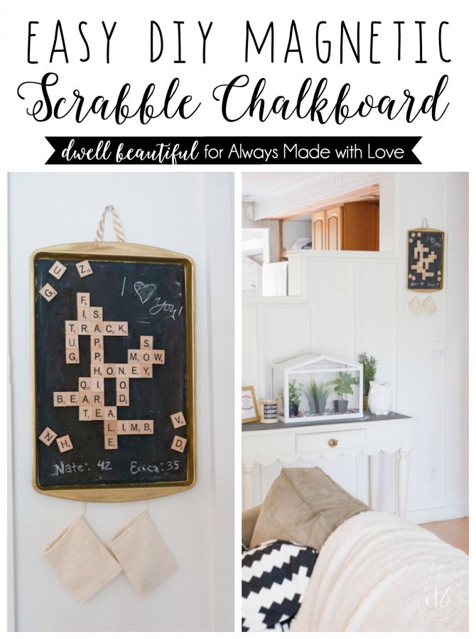 An easy DIY that would make a great addition to any family home especially for games night