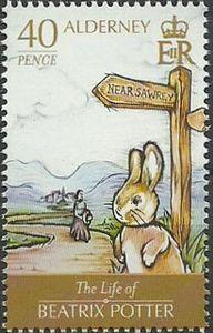 Alderney  2013   Rabbit & Beatrix Potter